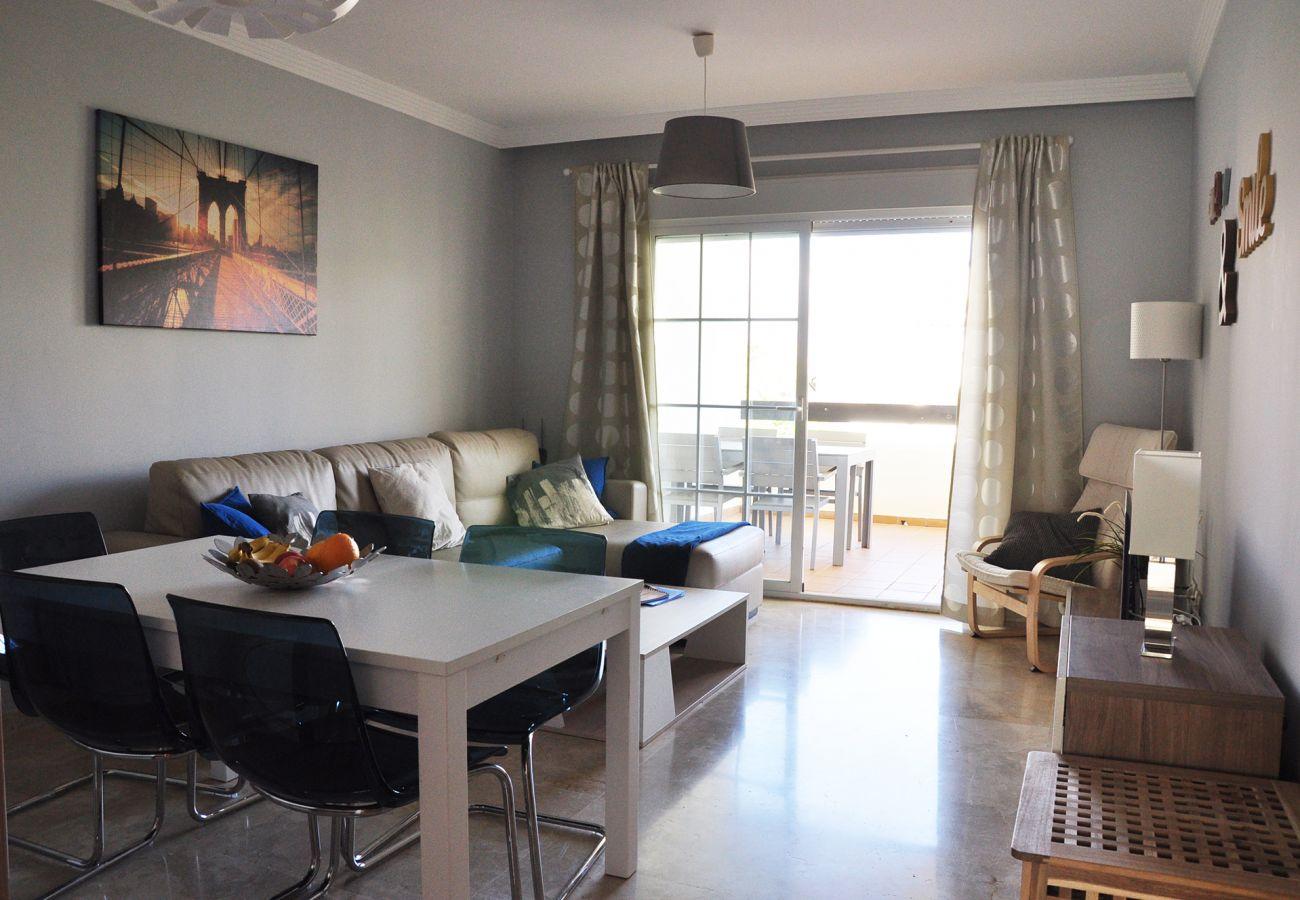 Zapholiday - 2201 - Alquiler de vacaciones apartamento Manilva - sala de estar