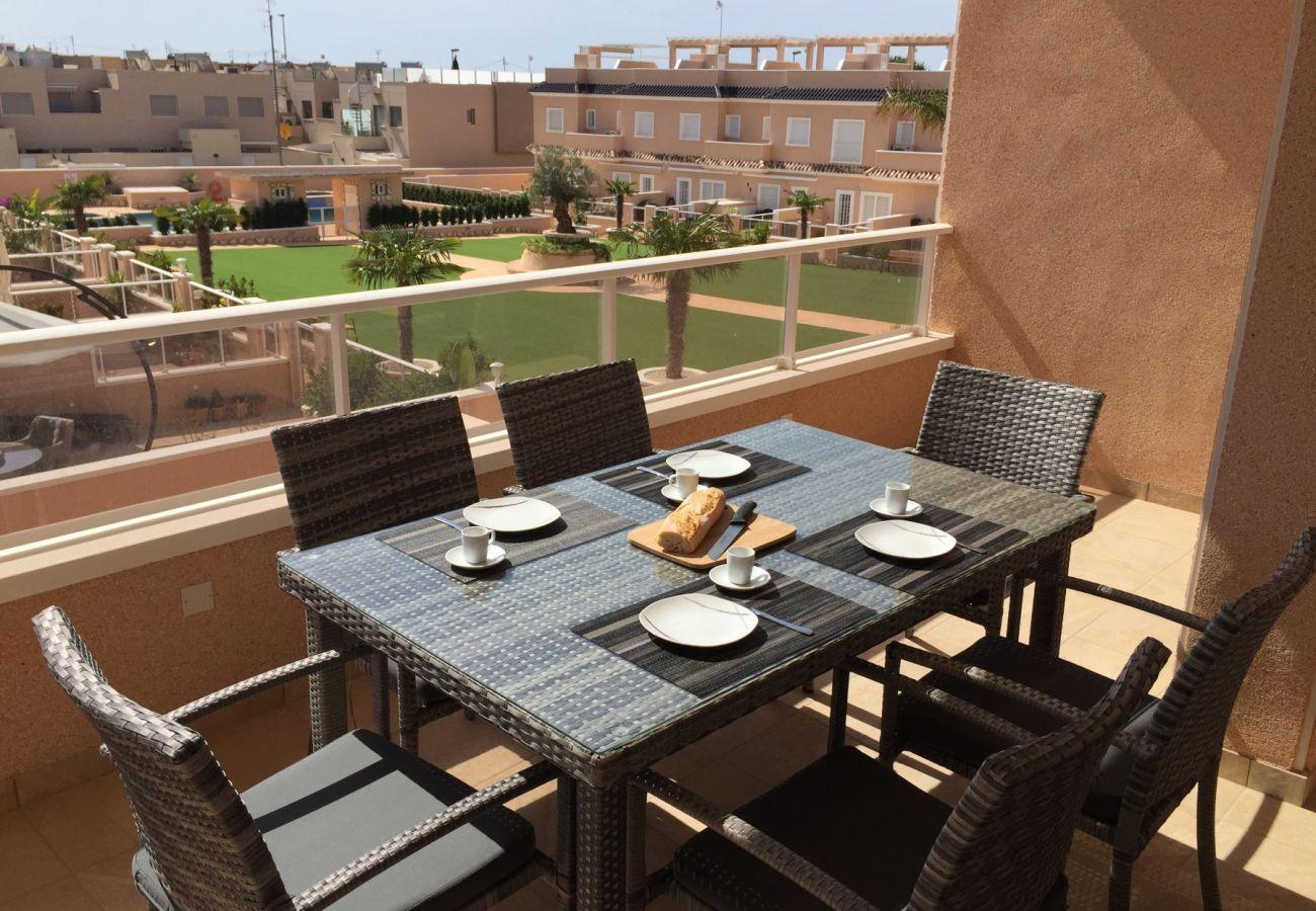 Zapholiday - 3027 - apartamento Torre de la Horadada, Costa Blanca - terraza